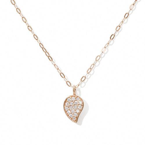 Tamara Comolli Sparkle collier met hanger in roségoud met diamant Leon Martens Juwelier
