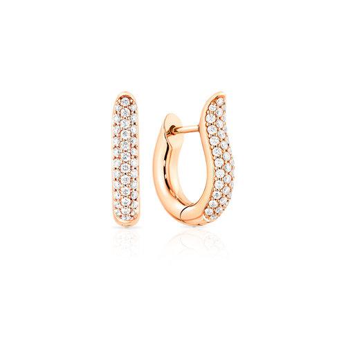 Tamara Comolli Signature Hoop oorhangers in roségoud met diamant Leon Martens Juwelier