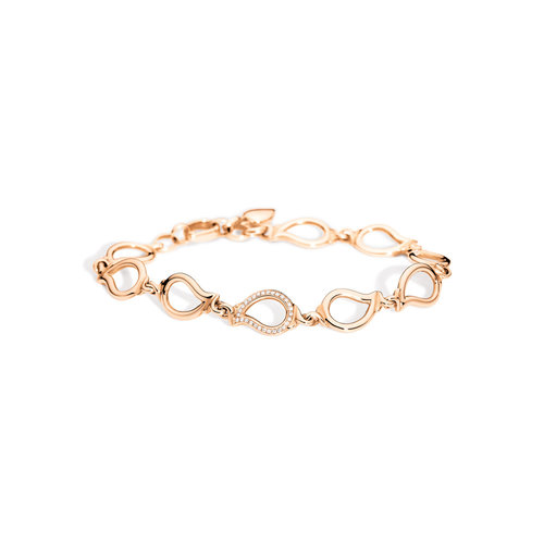 Tamara Comolli Signature armband in roségoud met diamant Leon Martens Juwelier