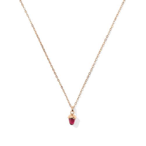 Tamara Comolli Mikado collier met hanger in roségoud met roze toermalijn Leon Martens Juwelier