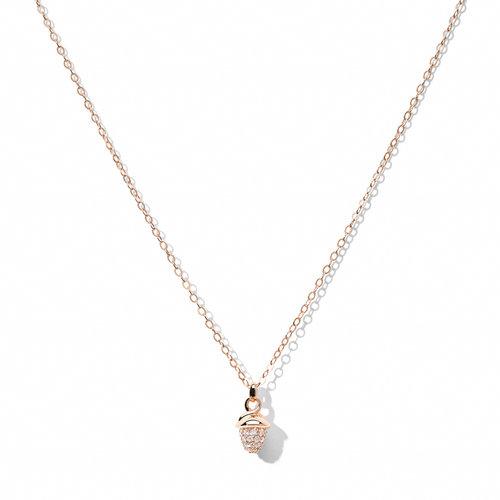 Tamara Comolli Mikado collier met hanger in roségoud met diamant Leon Martens Juwelier
