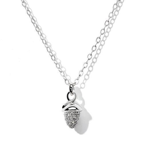 Tamara Comolli Mikado collier met hanger in witgoud met diamant Leon Martens Juwelier
