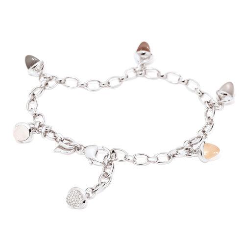 Tamara Comolli Mikado Cashmere armband in witgoud met maanstenen en diamant Leon Martens Juwelier
