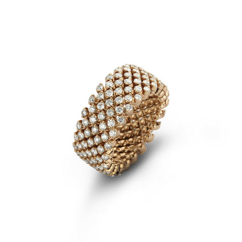 Serafino Consoli Brevetto rekring in roségoud met diamant Leon Martens Juwelier