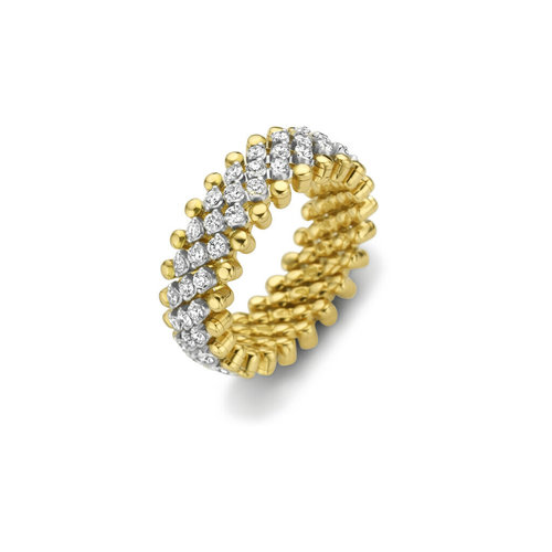 Serafino Consoli Brevetto rekring in geel- en witgoud met diamant Leon Martens Juwelier