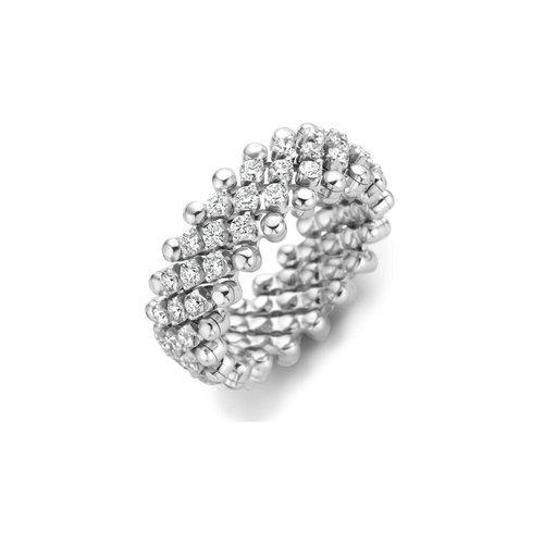 Serafino Consoli Brevetto rekring in witgoud met diamant Leon Martens Juwelier