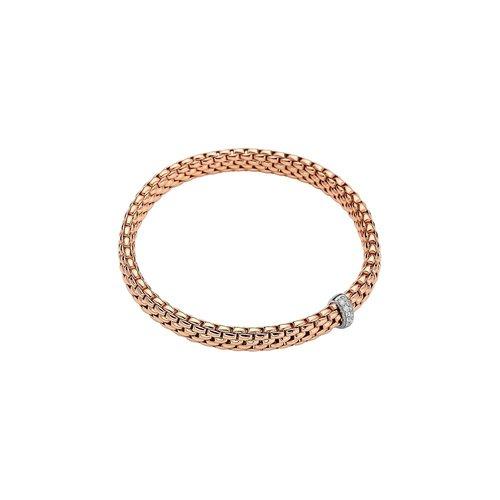 Fope Vendome armband in rosé- en witgoed met diamant Leon Martens Juwelier