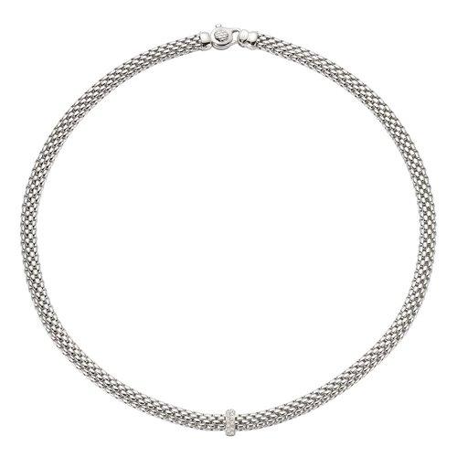 Fope Vendome collier in witgoud met diamant Leon Martens Juwelier