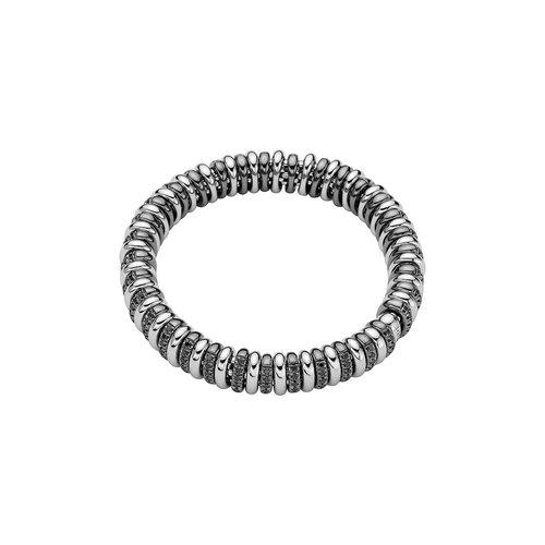 Fope Vendome armband in witgoud met zwarte diamant Leon Martens Juwelier