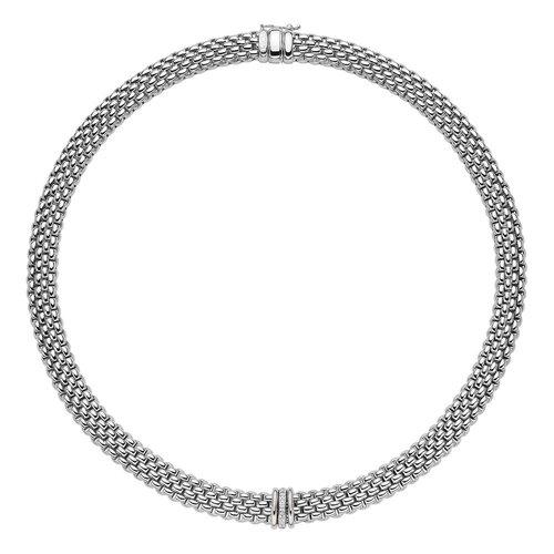 Fope Panorama collier in witgoud met diamant Leon Martens Juwelier