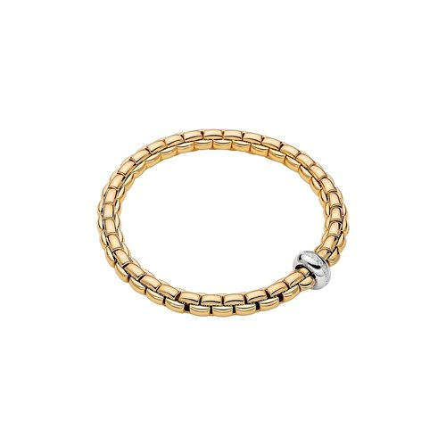 Fope Eka armband in geel- en witgoud met diamant Leon Martens Juwelier