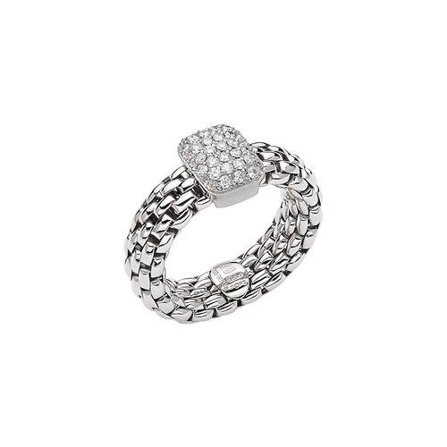 Fope Vendome ring in witgoud met diamant Leon Martens Juwelier