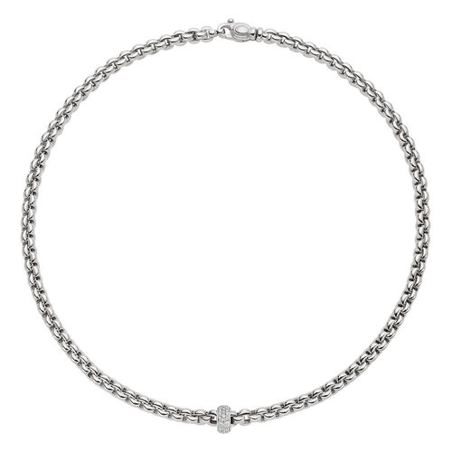 Fope Eka collier in witgoud met diamant Leon Martens Juwelier