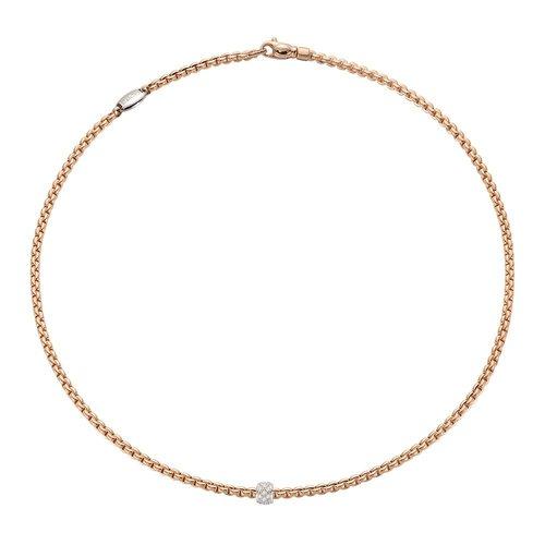 Fope Eka collier in roségoud met diamant Leon Martens Juwelier