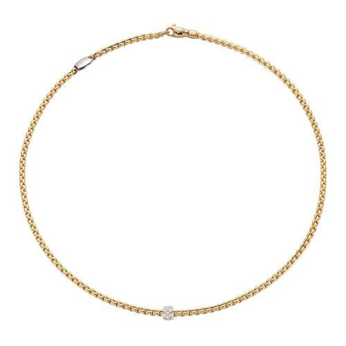Fope Eka collier in geelgoud met diamant Leon Martens Juwelier