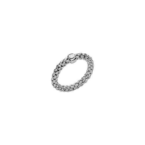 Fope Essentials ring in witgoud Leon Martens Juwelier