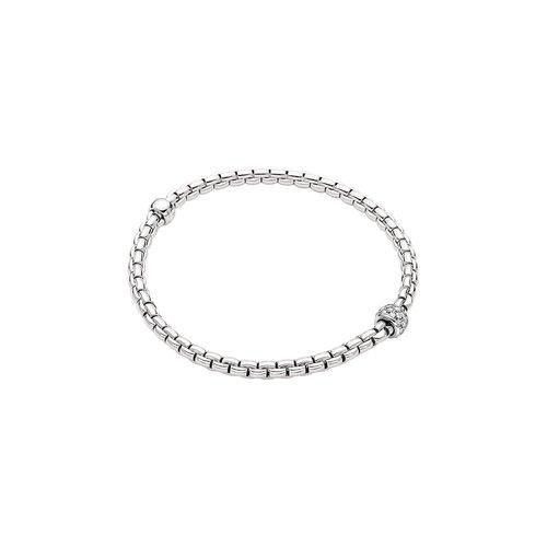 Fope Eka armband in witgoud met diamant Leon Martens Juwelier