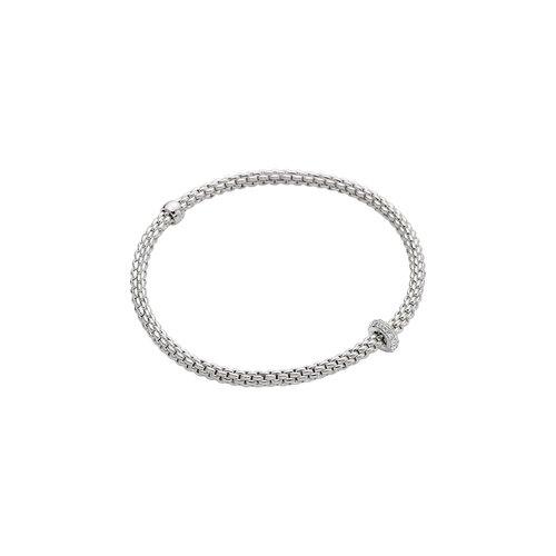 Fope Prima armband in witgoud met diamant Leon Martens Juwelier