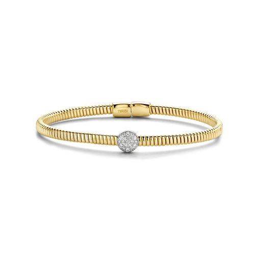 Tirisi Amsterdam armband in geelgoud met diamant Leon Martens Juwelier