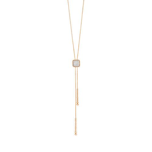 Tirisi Amsterdam collier in rosé- en witgoud met diamant Leon Martens Juwelier