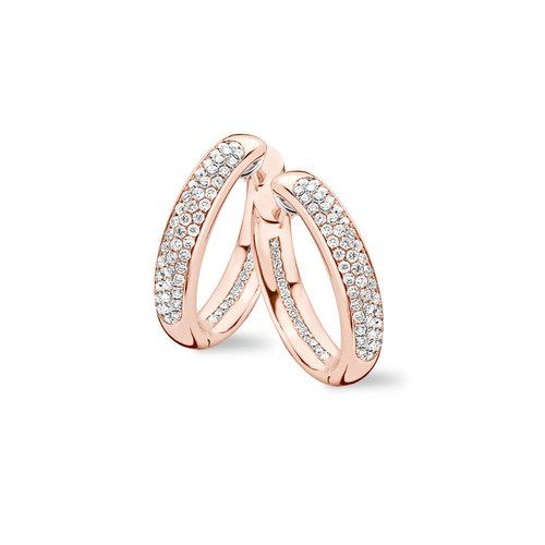 Tirisi Amsterdam oorringen in roségoud met diamant Leon Martens Juwelier