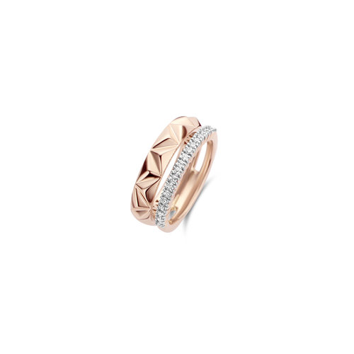 Tirisi Monte Carlo ring in roségoud met diamant Leon Martens Juwelier