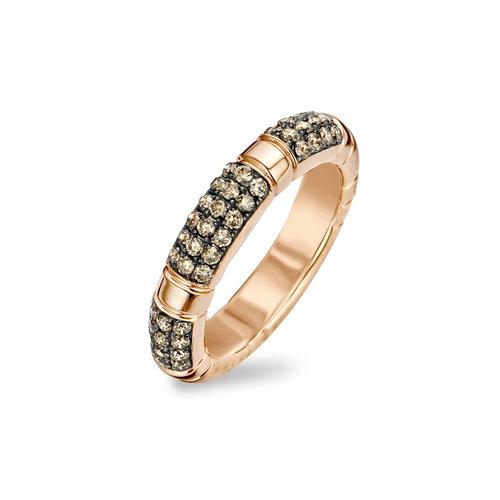 Tirisi Amsterdam ring in roségoud met bruine diamant Leon Martens Juwelier