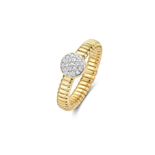 Tirisi Amsterdam ring in geelgoud met diamant Leon Martens Juwelier