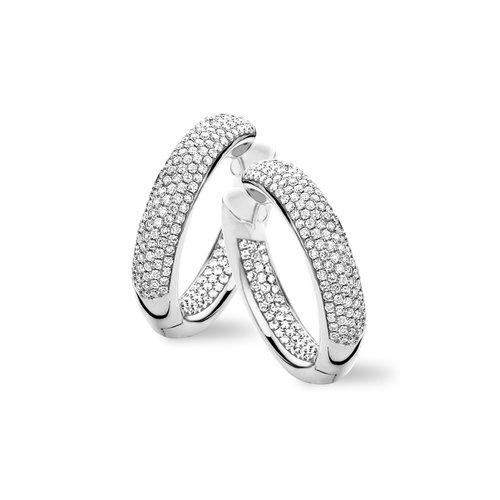 Tirisi Amsterdam oorringen in witgoud met diamant Leon Martens Juwelier