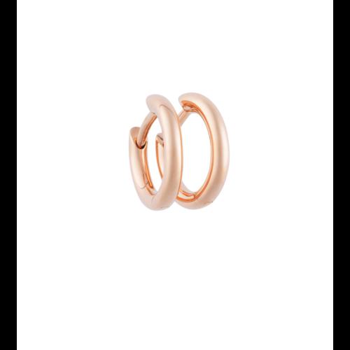 Bron Lux oorhangers in roségoud Leon Martens Juwelier