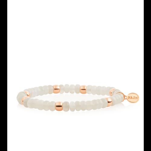 Bron Relfex armband in roségoud met maansteen Leon Martens Juwelier