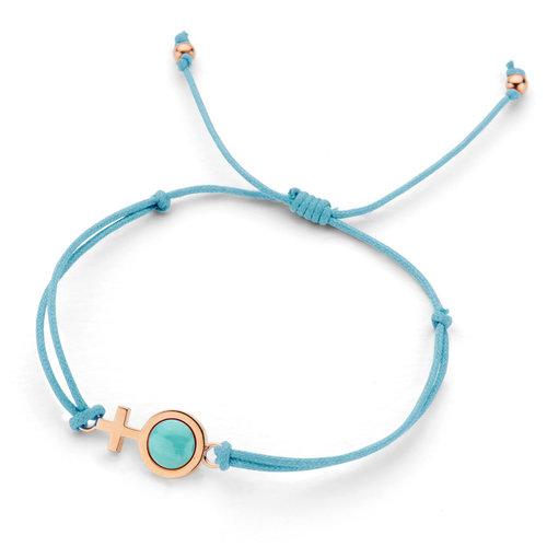 Leon Martens Gift for Life armband in roségoud met turkoois Leon Martens Juwelier