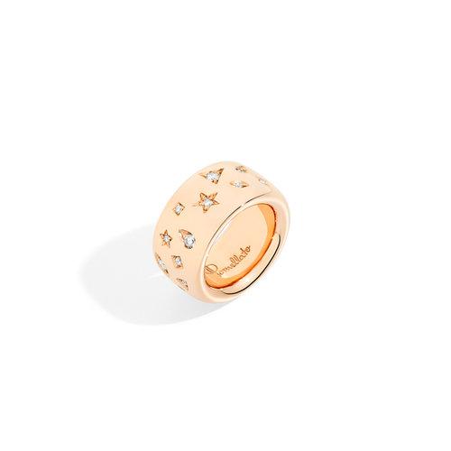 Pomellato Iconica ring in roségoud met diamant Leon Martens Juwelier
