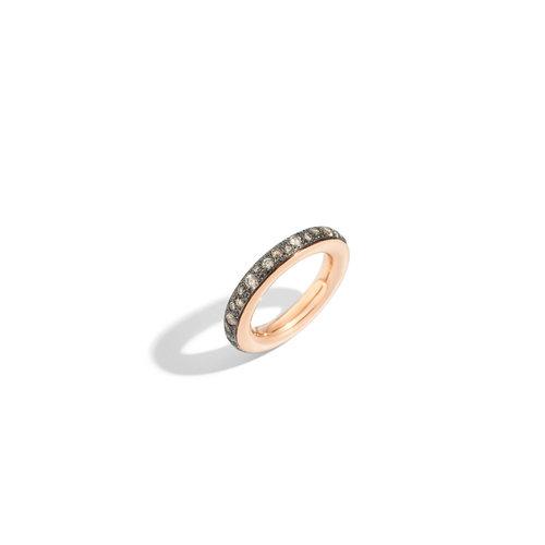 Pomellato Iconica ring in roségoud met bruine diamant Leon Martens Juwelier
