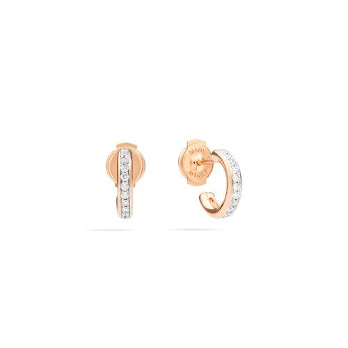 Pomellato Iconica oorringen in roségoud met diamant Leon Martens Juwelier