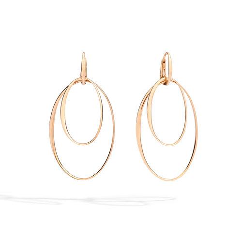 Pomellato Gold oorhangers in roségoud Leon Martens Juwelier