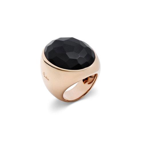 Pomellato Victoria ring in roségoud met zwarte git Leon Martens Juwelier