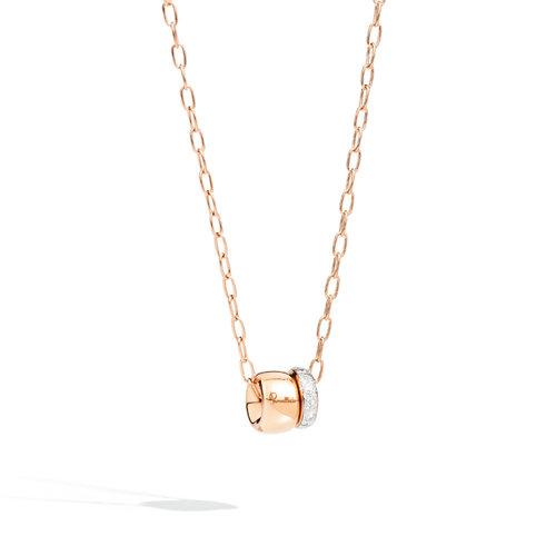 Pomellato Iconica collier met hanger in roségoud met diamant Leon Martens Juwelier