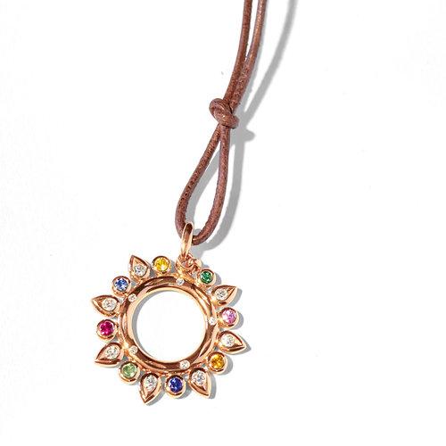 Tamara Comolli Gypsy Candy hanger met kleurrijke edelstenen en diamant Leon Martens Juwelier