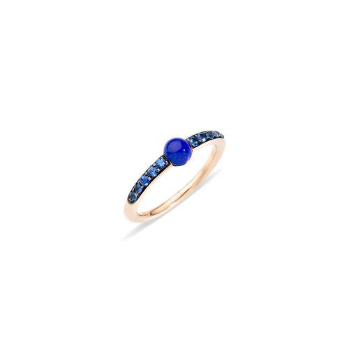 Pomellato M'ama non m'ama ring in roségoud met lapis lazuli en blauwe saffier Leon Martens Juwelier