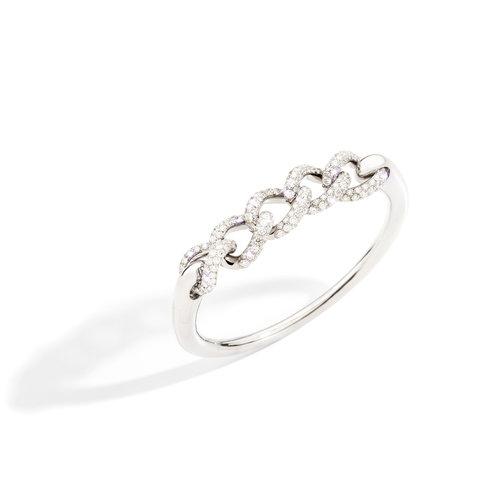Pomellato Catene armband in witgoud met diamant Leon Martens Juwelier