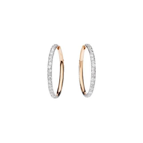 Pomellato Catene oorringen in roségoud met diamant Leon Martens Juwelier