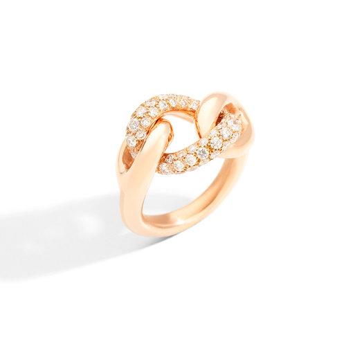 Pomellato Catene ring in roségoud met diamant Leon Martens Juwelier
