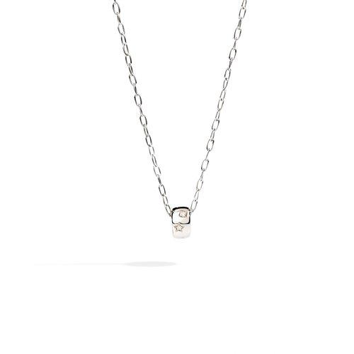Pomellato Iconica collier met hanger in witgoud met diamant Leon Martens Juwelier