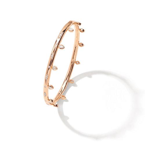 Tamara Comolli Gypsy armband in roségoud met diamant Leon Martens Juwelier