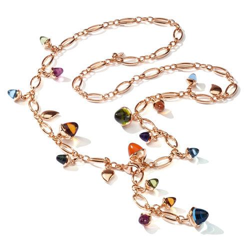 Tamara Comolli Mikado Candy collier in roségoud met kleurrijke edelstenen Leon Martens Juwelier