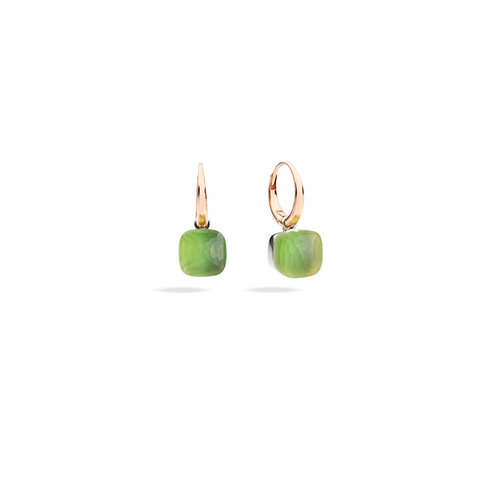 Pomellato Nudo Gelè oorhangers in wit- en roségoud met lemonkwarts en chrysopraas Leon Martens Juwelier