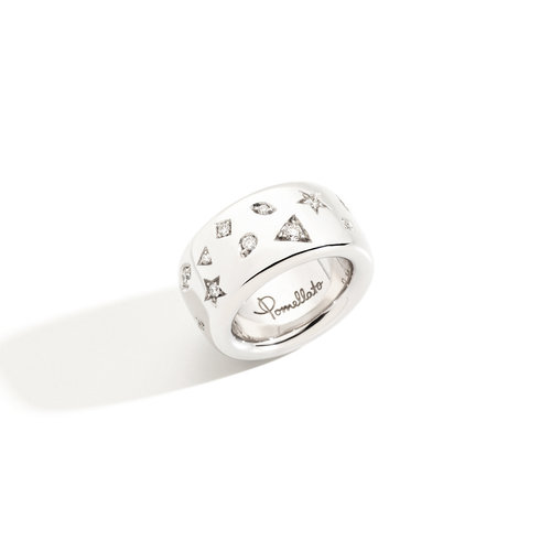 Pomellato Iconica ring in witgoud met diamant Leon Martens Juwelier