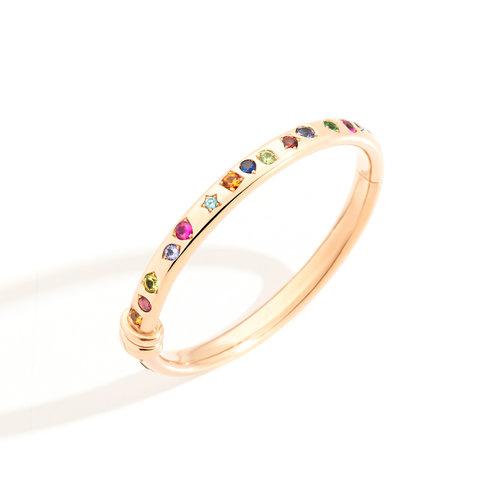 Pomellato Iconica armband in roségoud met gekleurde edelstenen Leon Martens Juwelier