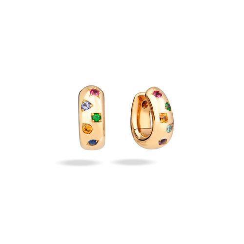 Pomellato Iconica oorringen in roségoud met gekleurde edelstenen Leon Martens Juwelier
